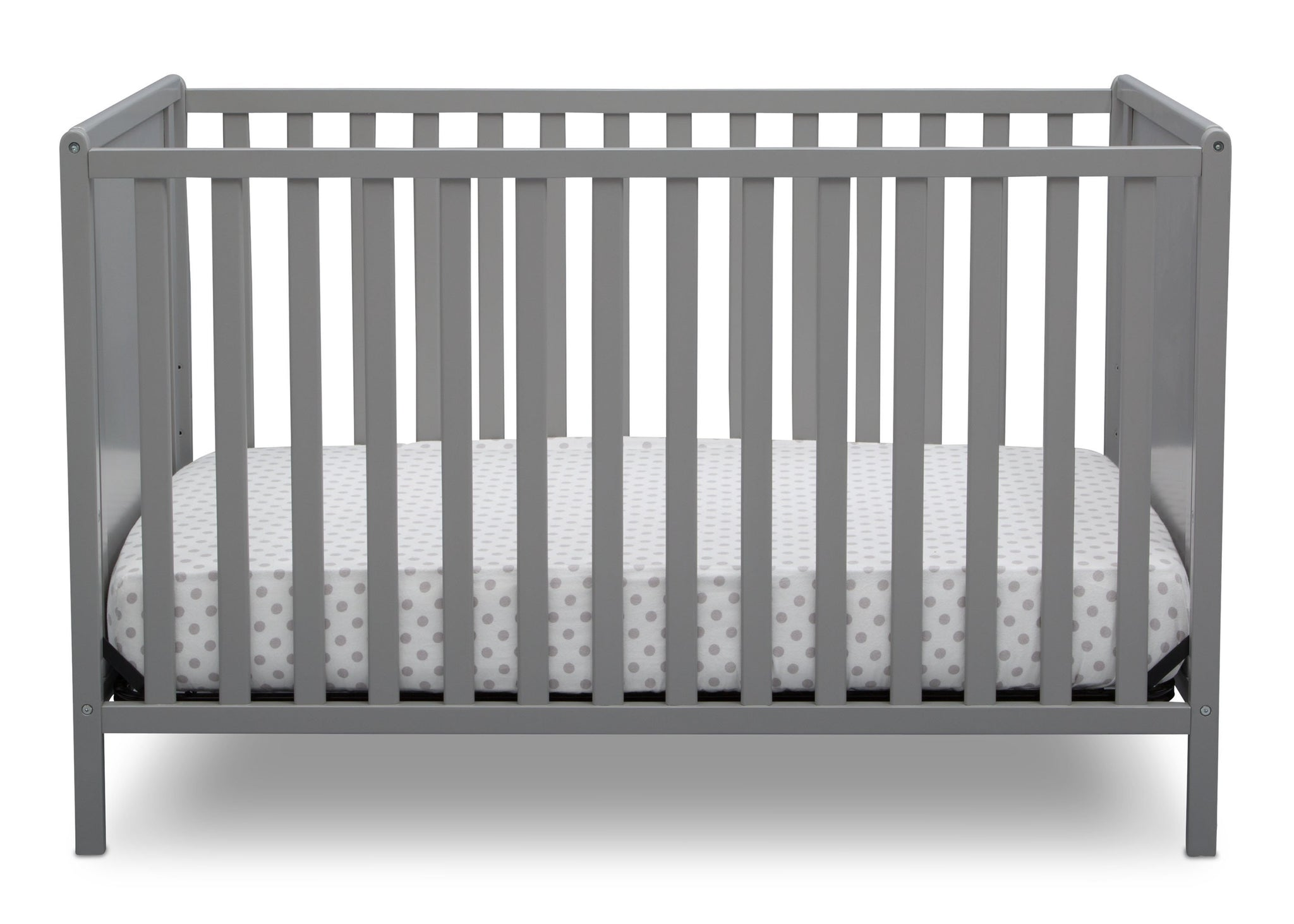 Delta Children Grey (026) Heartland Classic 4-in-1 Convertible Crib, Crib Front, a2a