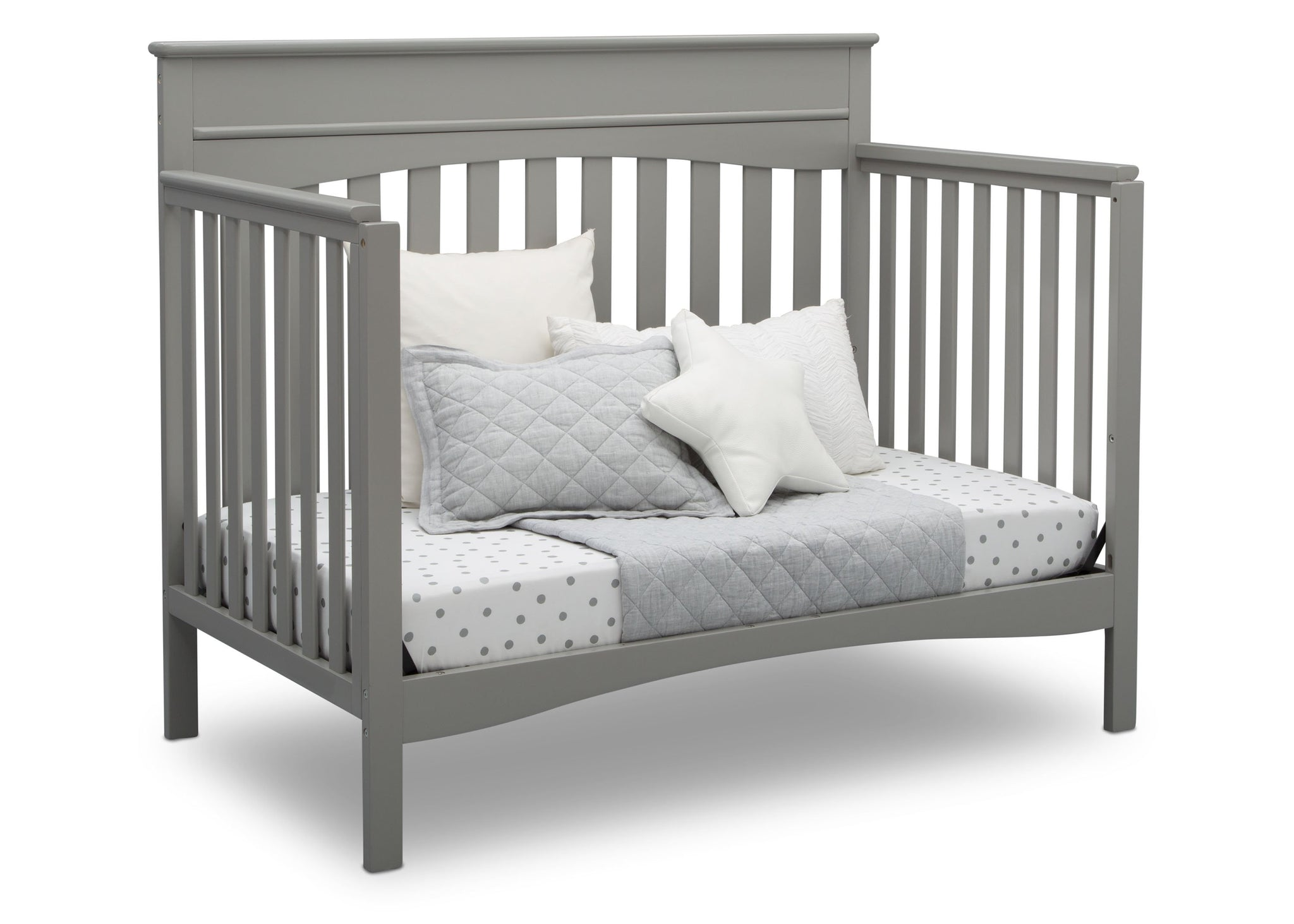 Delta Children Grey (026) Skylar 4-in-1 Convertible Crib (558150), Daybed, b3b