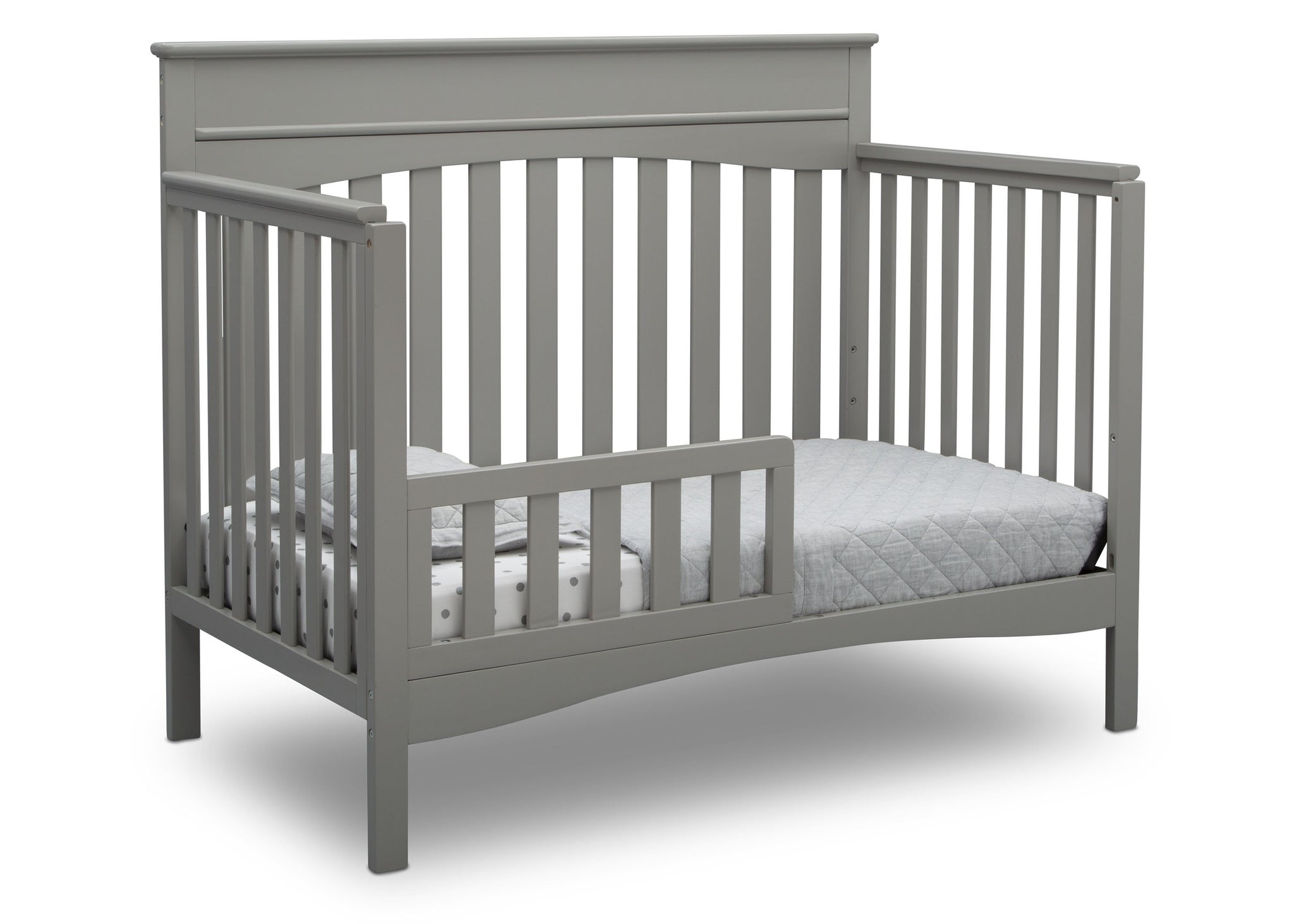 Delta Children Grey (026) Skylar 4-in-1 Convertible Crib (558150), Toddler Bed, b4b