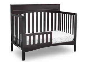 Delta Children Dark Chocolate (207) Skylar 4-in-1 Convertible Crib (558150), Toddler Bed, d4d