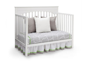 Delta Children White (100) Layla 4-in-1 Crib, Day Bed Conversion a5a