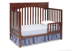Delta Children Chocolate (204) Layla 4-in-1 Crib, Toddler Bed Conversion b4b