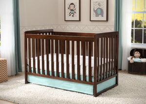 Delta Children Chocolate (204) Urban Classic 3-in-1 Crib, Detailed View b2b