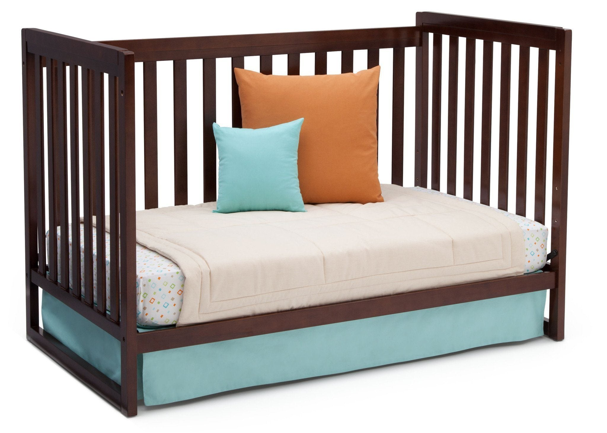 Delta Children Chocolate (204) Urban Classic 3-in-1 Crib, Day Bed Conversion b6b