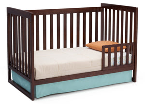 Delta Children Chocolate (204) Urban Classic 3-in-1 Crib, Toddler Bed Conversion b5b