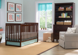 Delta Children Chocolate (204) Urban Classic 3-in-1 Crib in Setting b1b