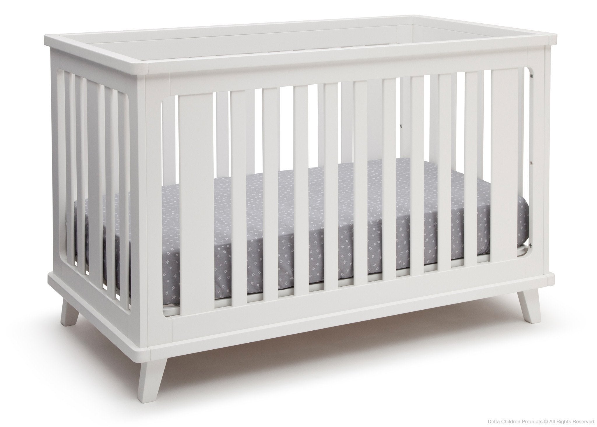 Delta Children White (100) Ava 3-in-1 Crib a3a