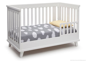 Delta Children White (100) Ava 3-in-1 Crib Toddler Bed Conversion a4a