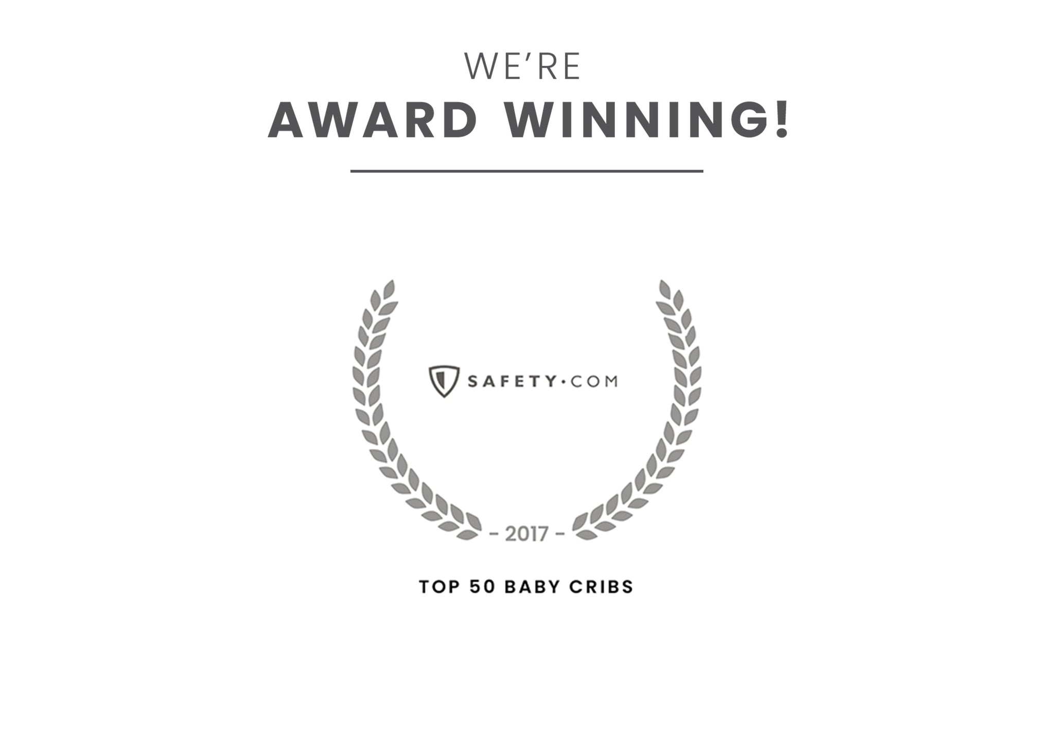 Award badge for Top 50 Baby Cribs Dark Chocolate (207)