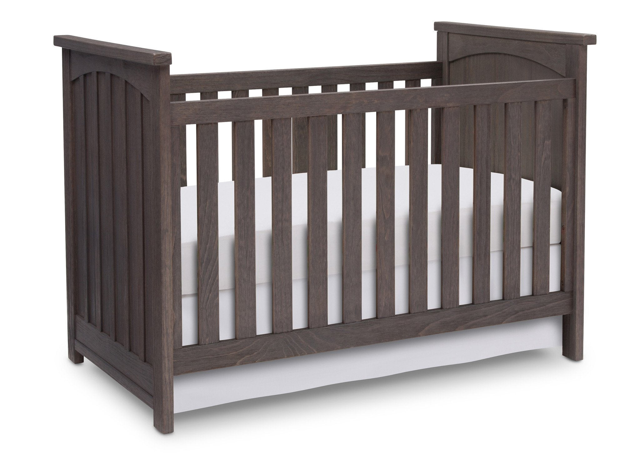 Serta Rustic Grey (084) Northbrook 3-in-1 Crib, Crib Conversion with Side View a3a