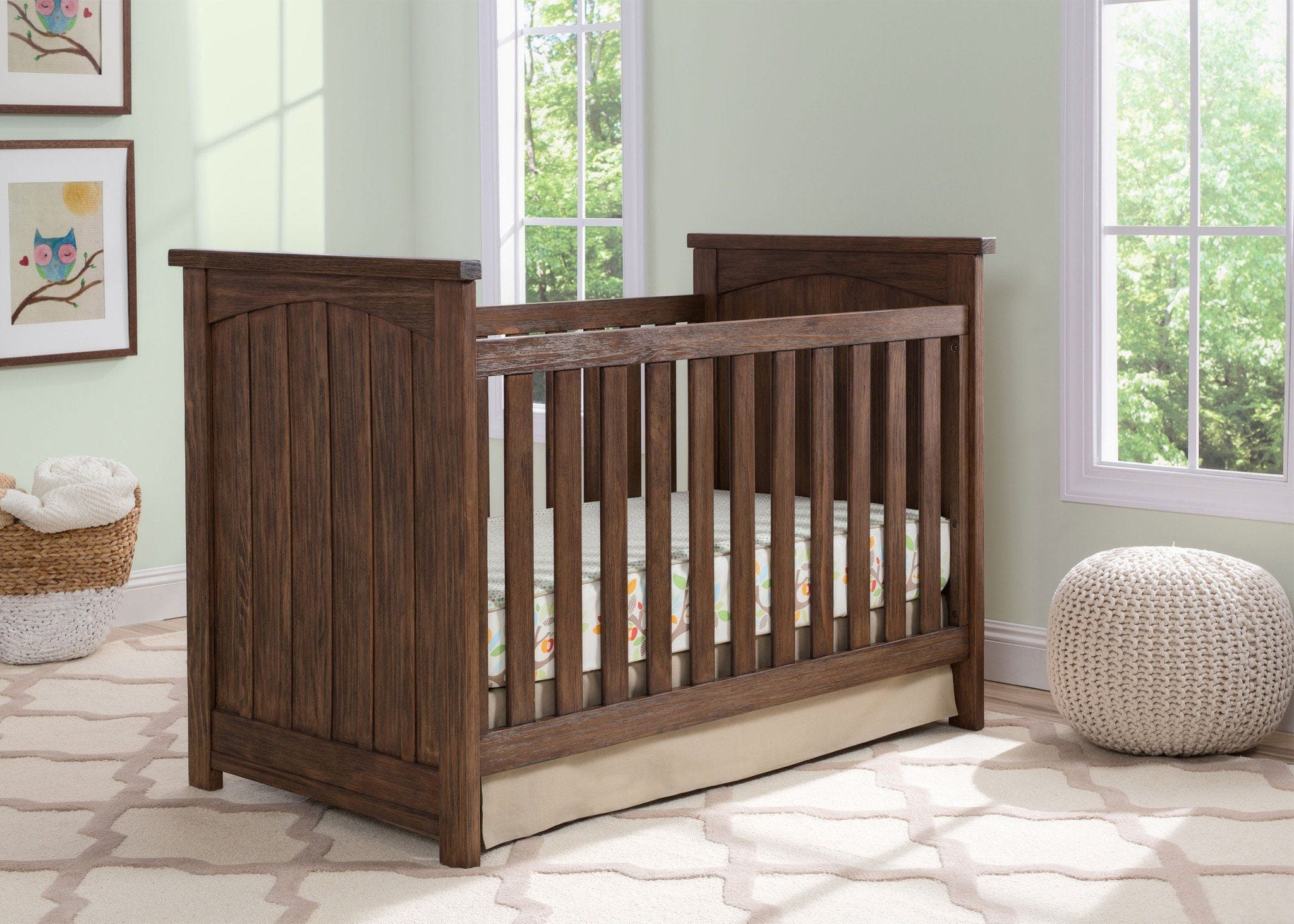 Serta Rustic Oak (229) Northbrook 3-in-1 Crib Hangtag View b1b