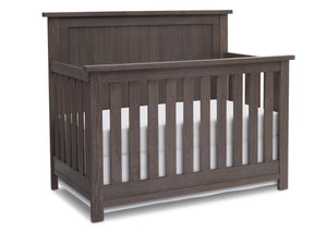Serta Rustic Grey (084) Northbrook 4-in-1 Crib, Side View with Crib Conversion a2a