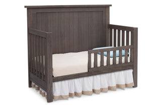 Serta Rustic Grey (084) Northbrook 4-in-1 Crib, Side View with Toddler Bed Conversion a3a
