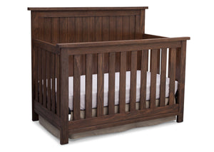 Serta Rustic Oak (229) Northbrook 4-in-1 Crib, Side View with Crib Conversion b4b