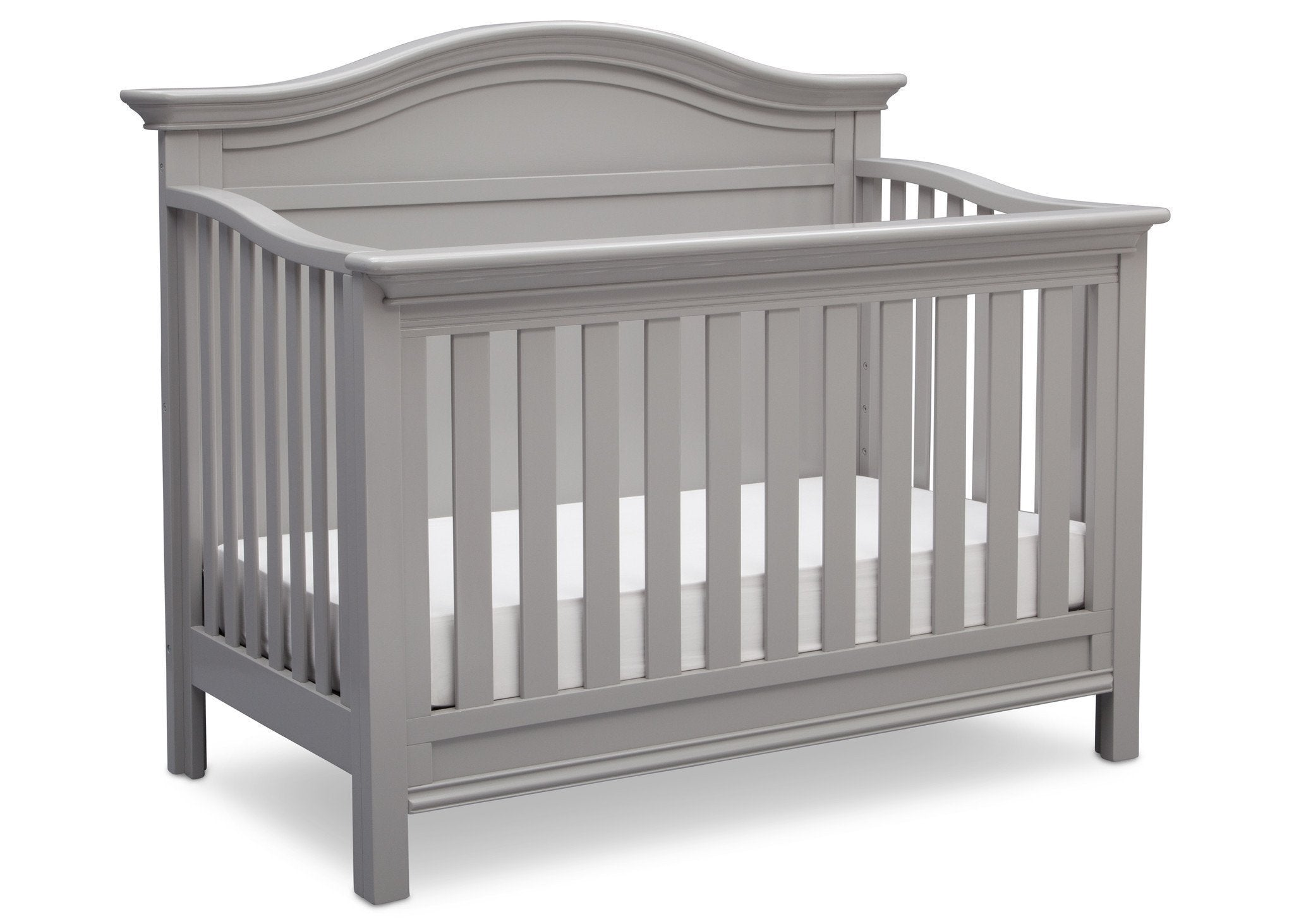 Serta Grey (026) Bethpage 4-in-1 Crib, Side View with Crib Conversion a4a