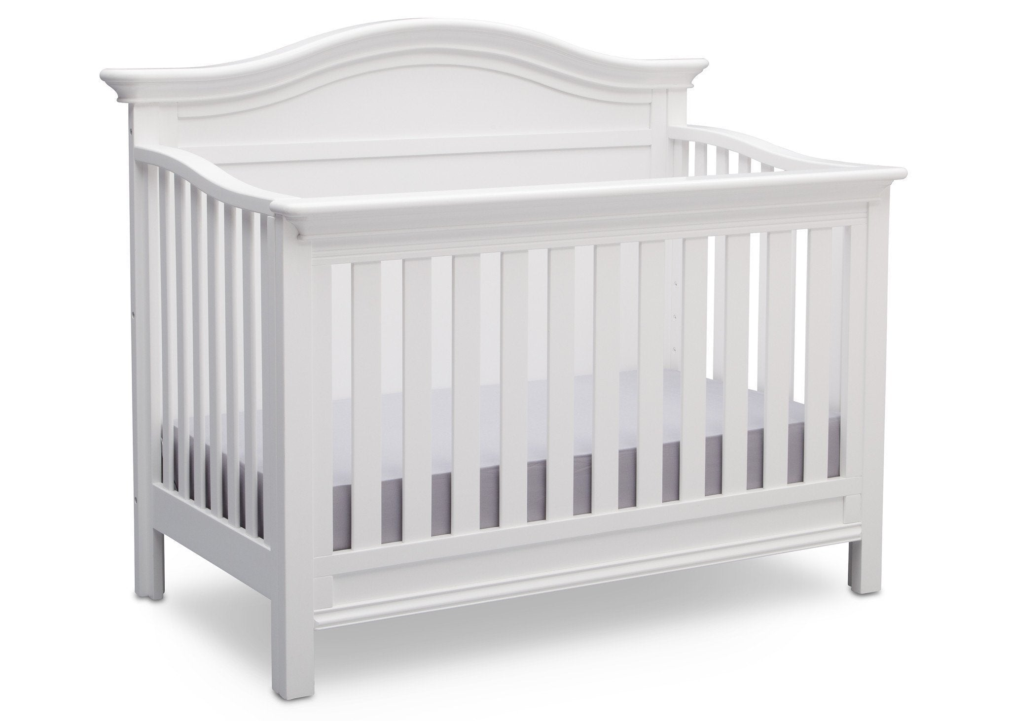 Serta Bianca White (130) Bethpage 4-in-1 Crib, Side View with Crib Conversion b4b