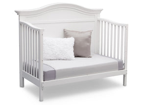 Serta Bianca White (130) Bethpage 4-in-1 Crib, Side View with Toddler Bed Conversion b6b