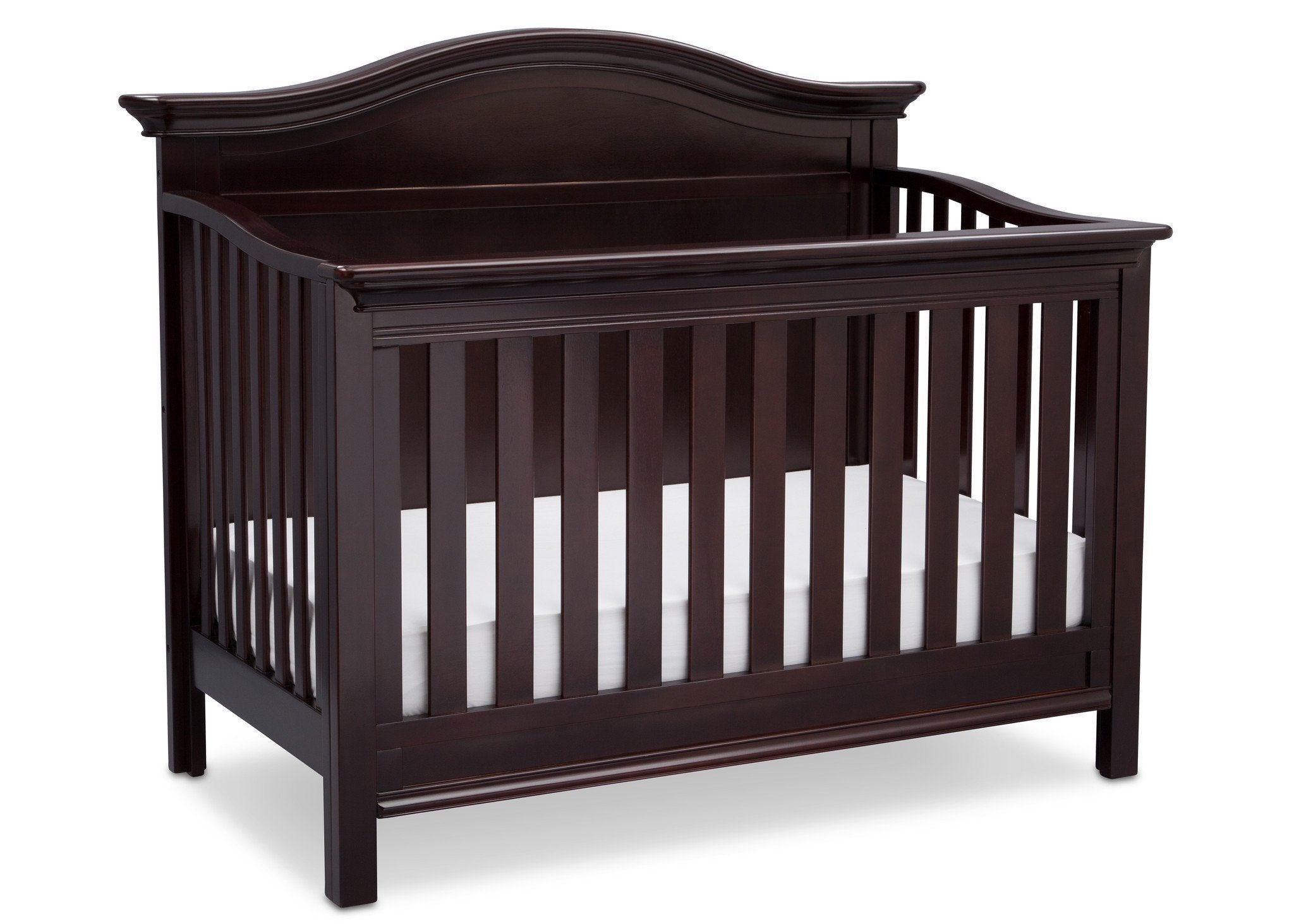Serta Dark Chocolate (207) Bethpage 4-in-1 Crib, Side View with Crib Conversion c4c