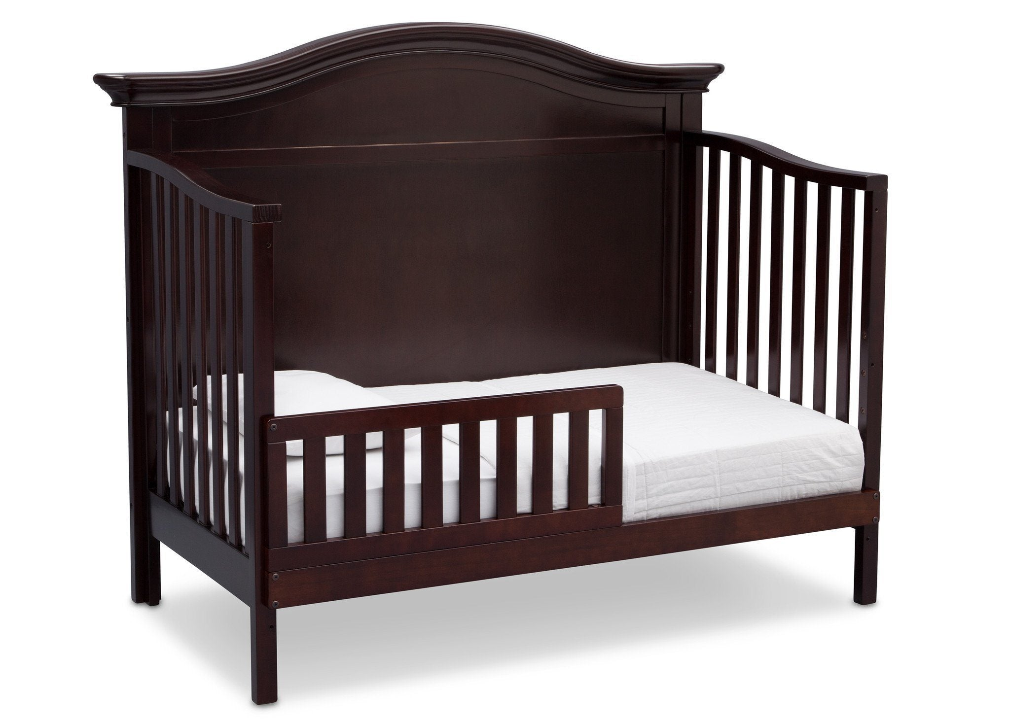 Serta Dark Chocolate (207) Bethpage 4-in-1 Crib, Side View with Toddler Bed Conversion c5c