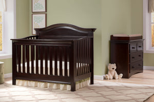 Serta Dark Chocolate (207) Bethpage 4-in-1 Crib, Room View