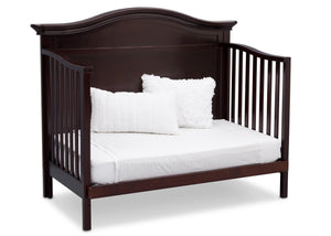 Serta Dark Chocolate (207) Bethpage 4-in-1 Crib, Side View with Day Bed Conversion c6c