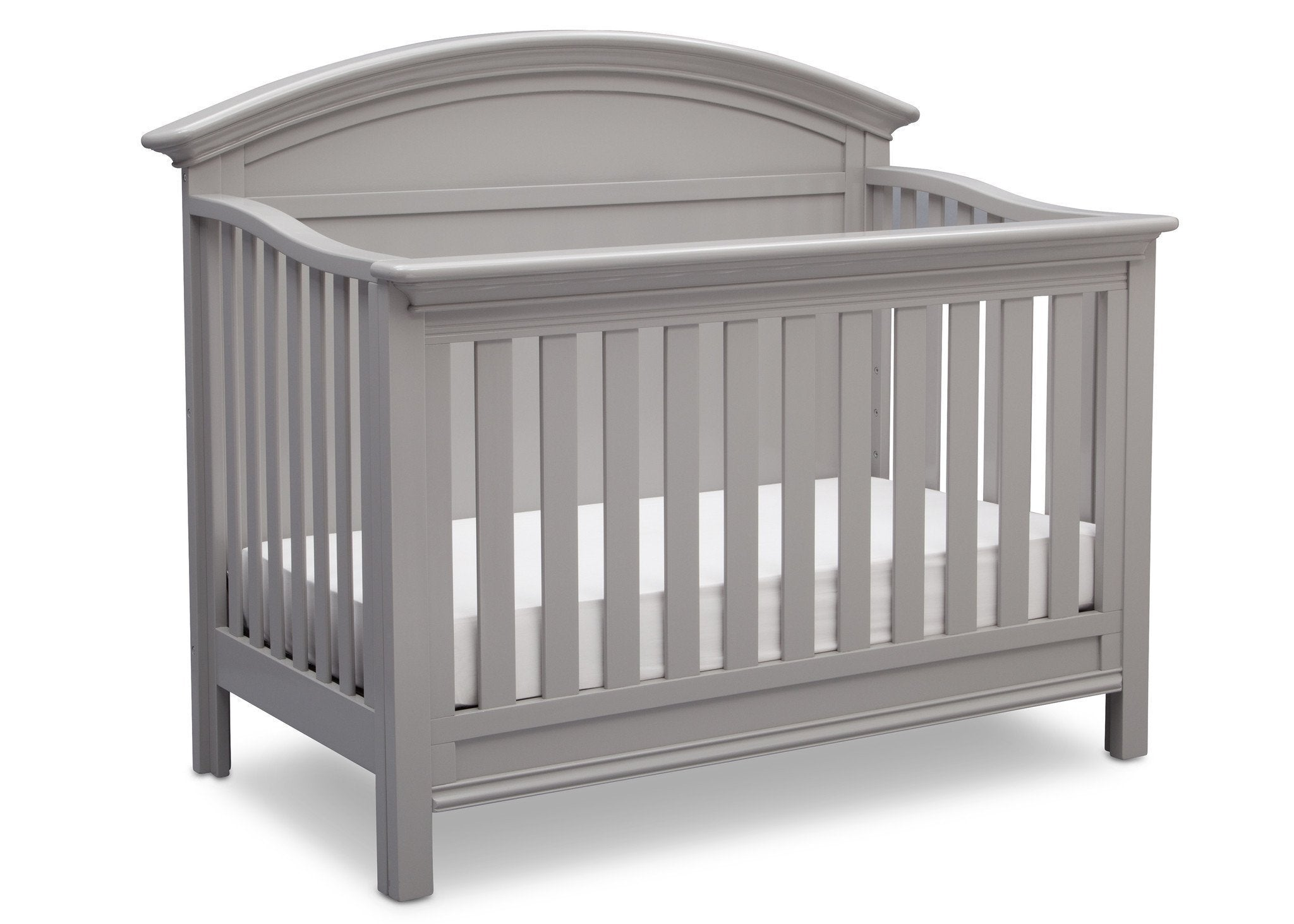 Serta Grey (026) Adelaide 4-in-1 Crib, Side View with Crib Conversion a4a