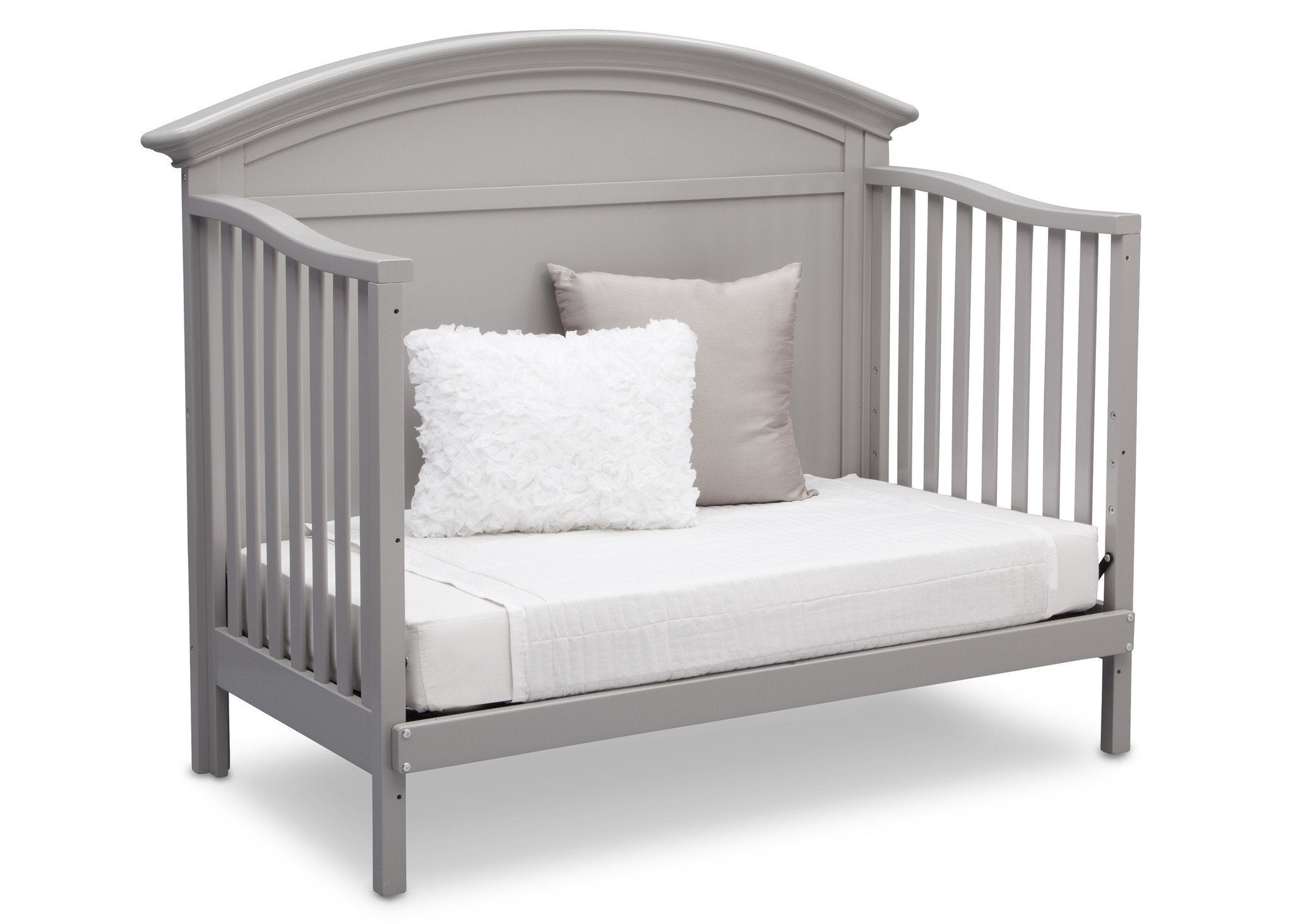 Serta Grey (026) Adelaide 4-in-1 Crib, Side View with Day Bed Conversion a6a