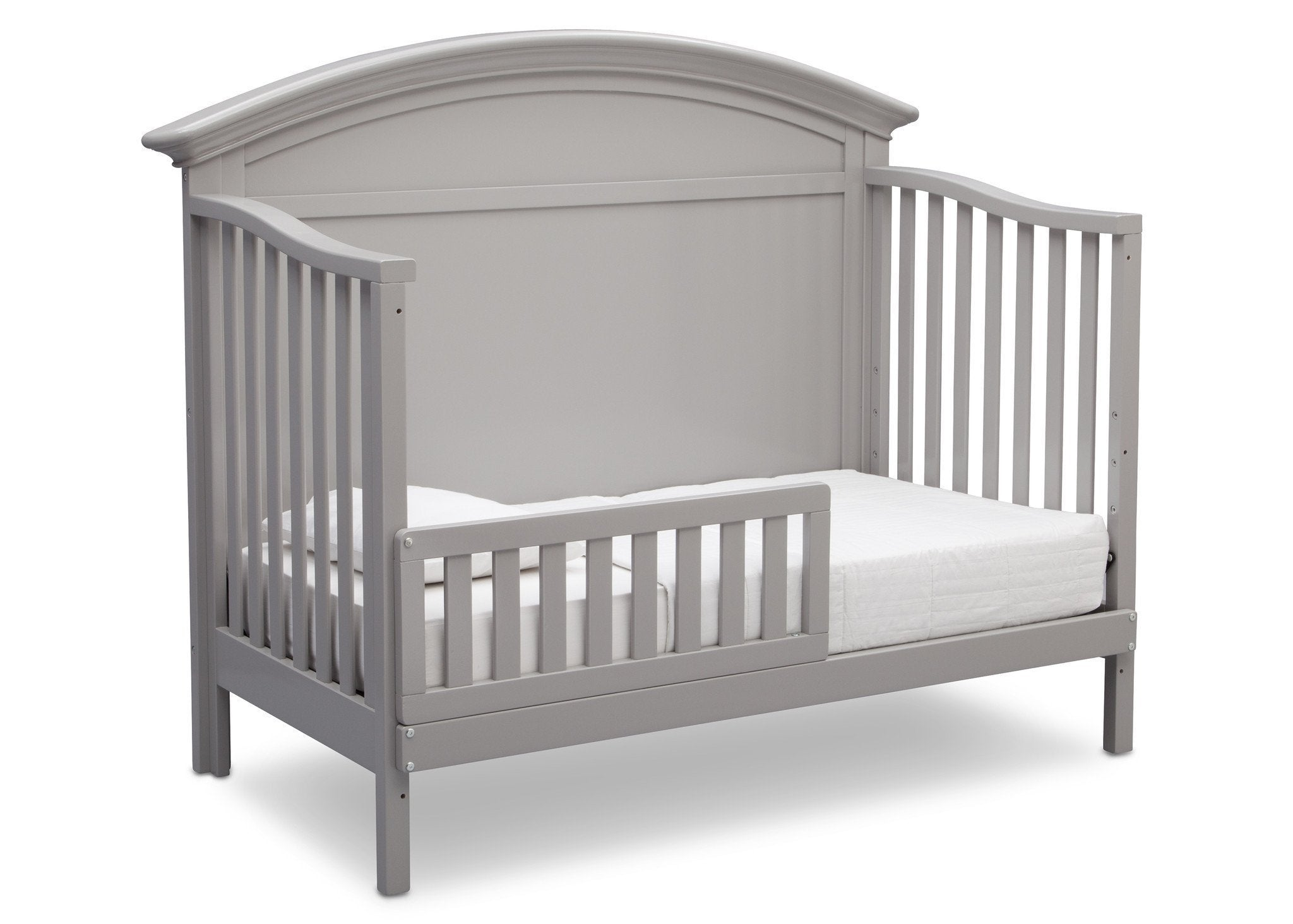 Serta Grey (026) Adelaide 4-in-1 Crib, Side View with Toddler Bed Conversion a5a