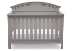 Serta Grey (026) Adelaide 4-in-1 Crib, Front View with Crib Conversion a3a