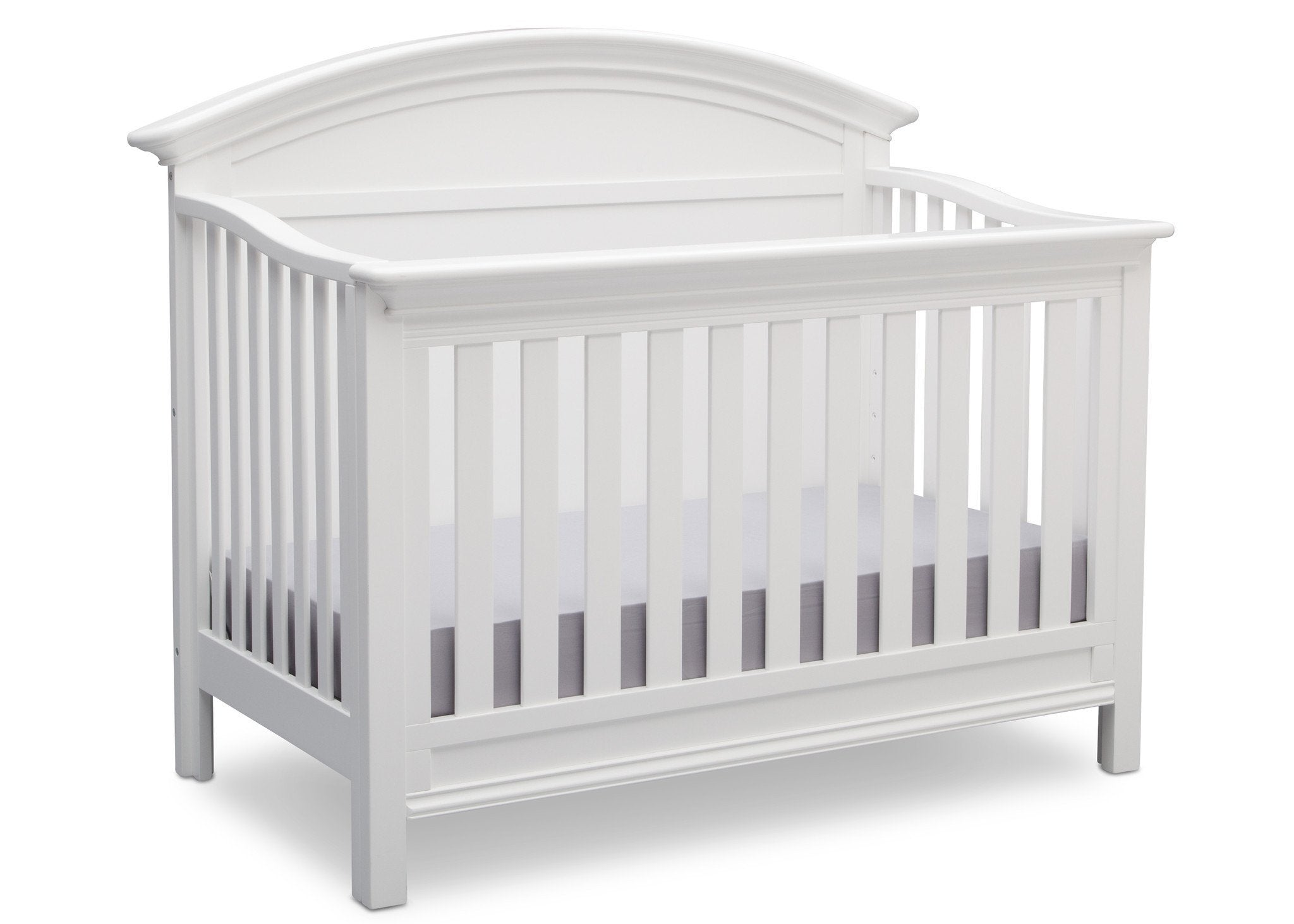 Serta Bianca (130) Adelaide 4-in-1 Crib, Side View with Toddler Bed Conversion b4b
