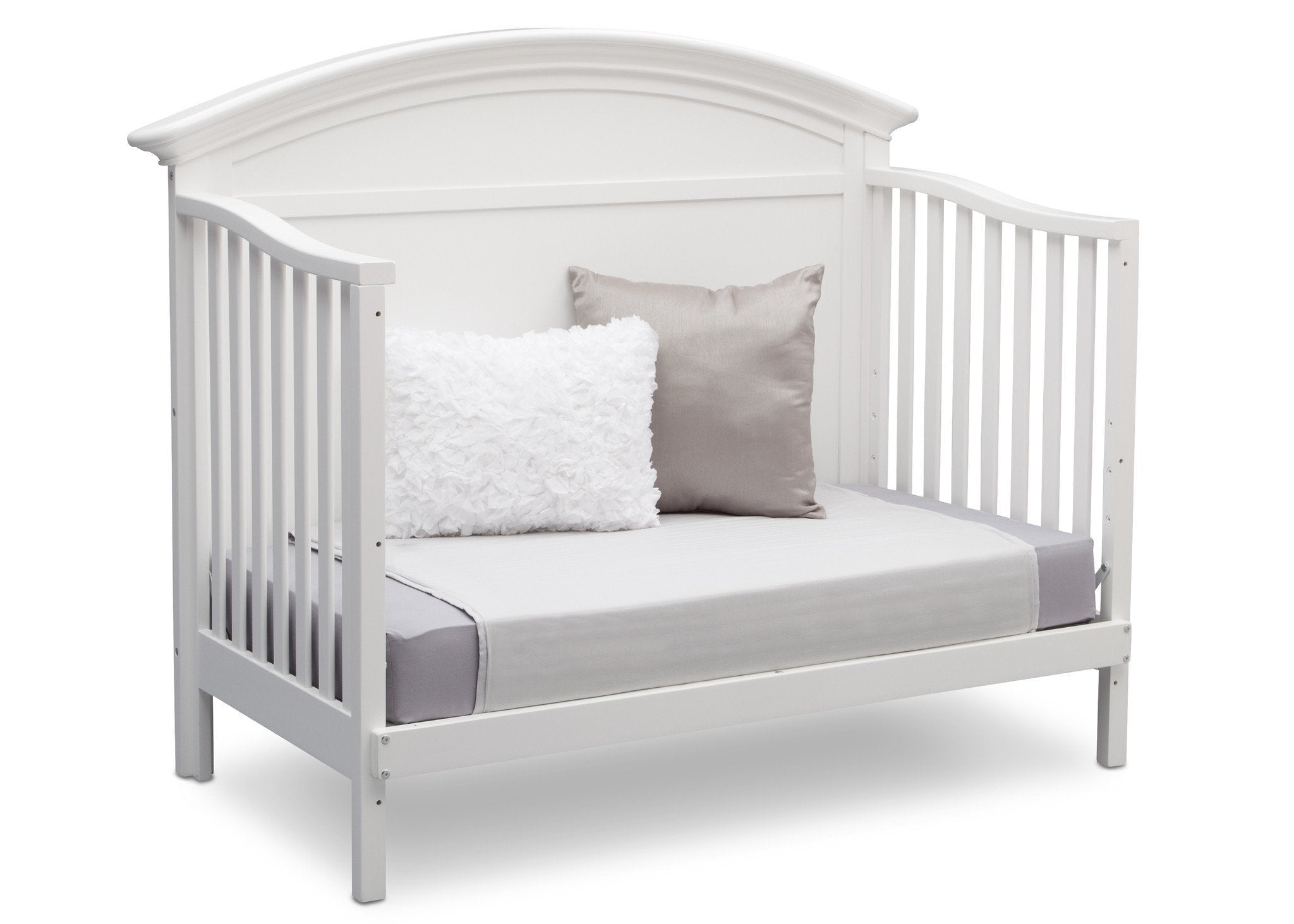 Serta Bianca (130) Adelaide 4-in-1 Crib, Side View with Toddler Bed Conversion b6b