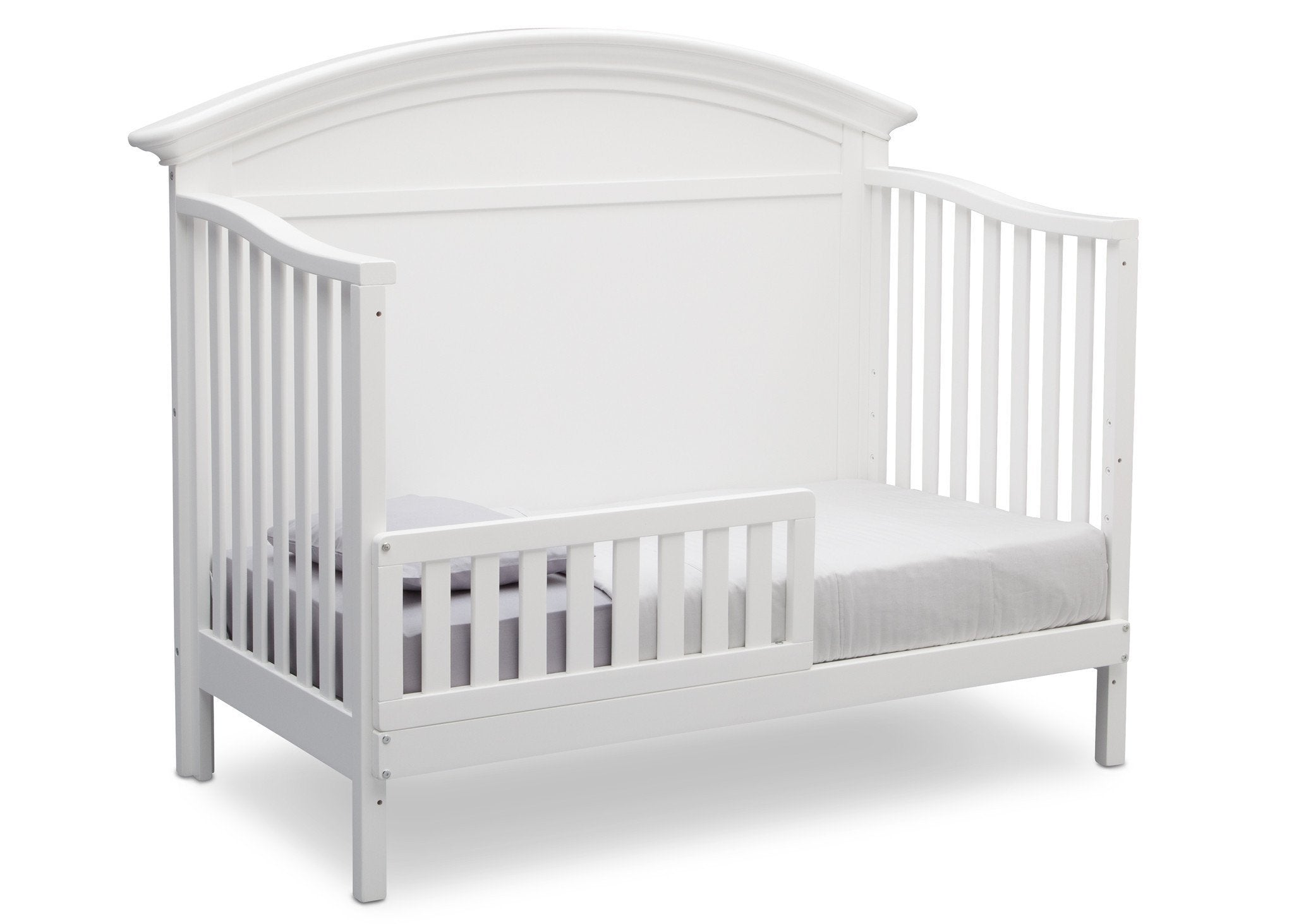Serta Bianca (130) Adelaide 4-in-1 Crib, Side View with Toddler Bed Conversion b5b