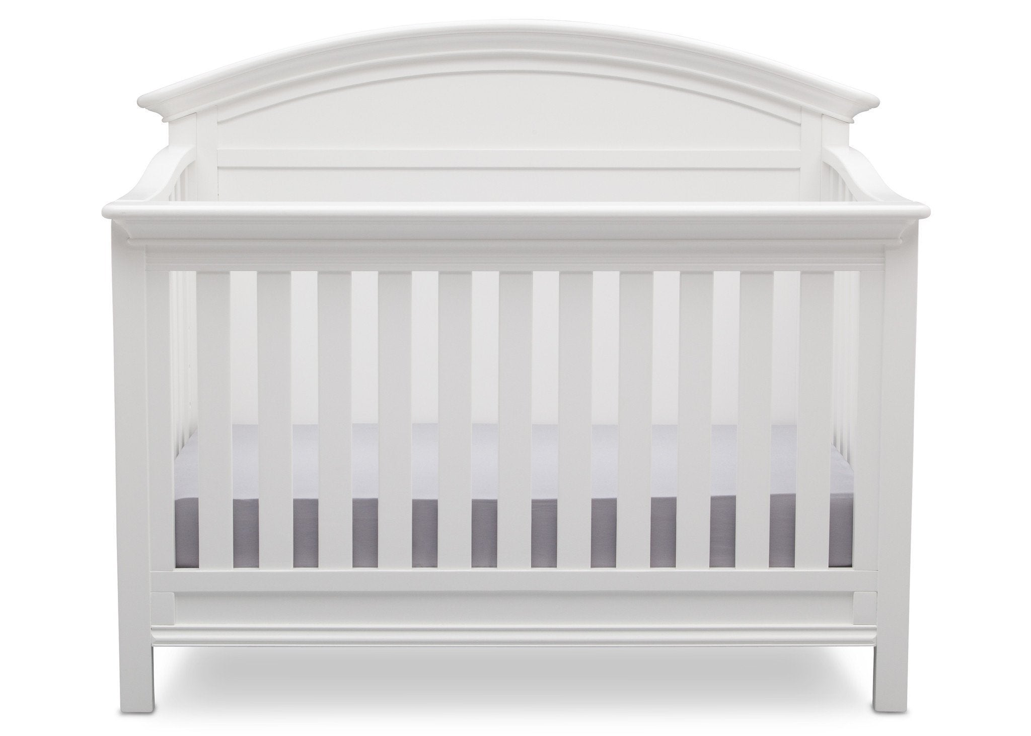 Serta Bianca (130) Adelaide 4-in-1 Crib, Front View with Crib Conversion b3b