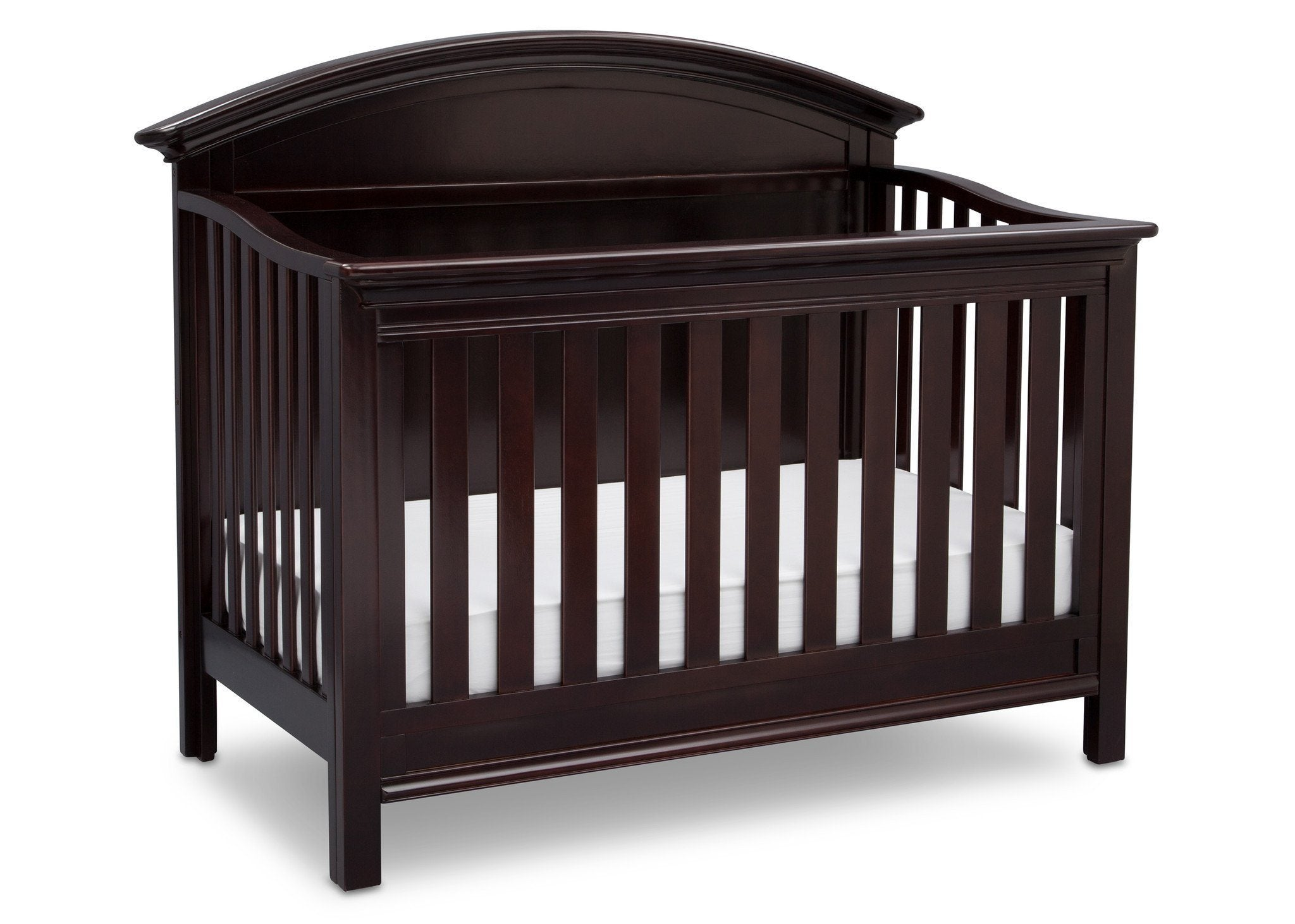 Serta Dark Chocolate (207) Adelaide 4-in-1 Crib, Side View with Crib Conversion c4c