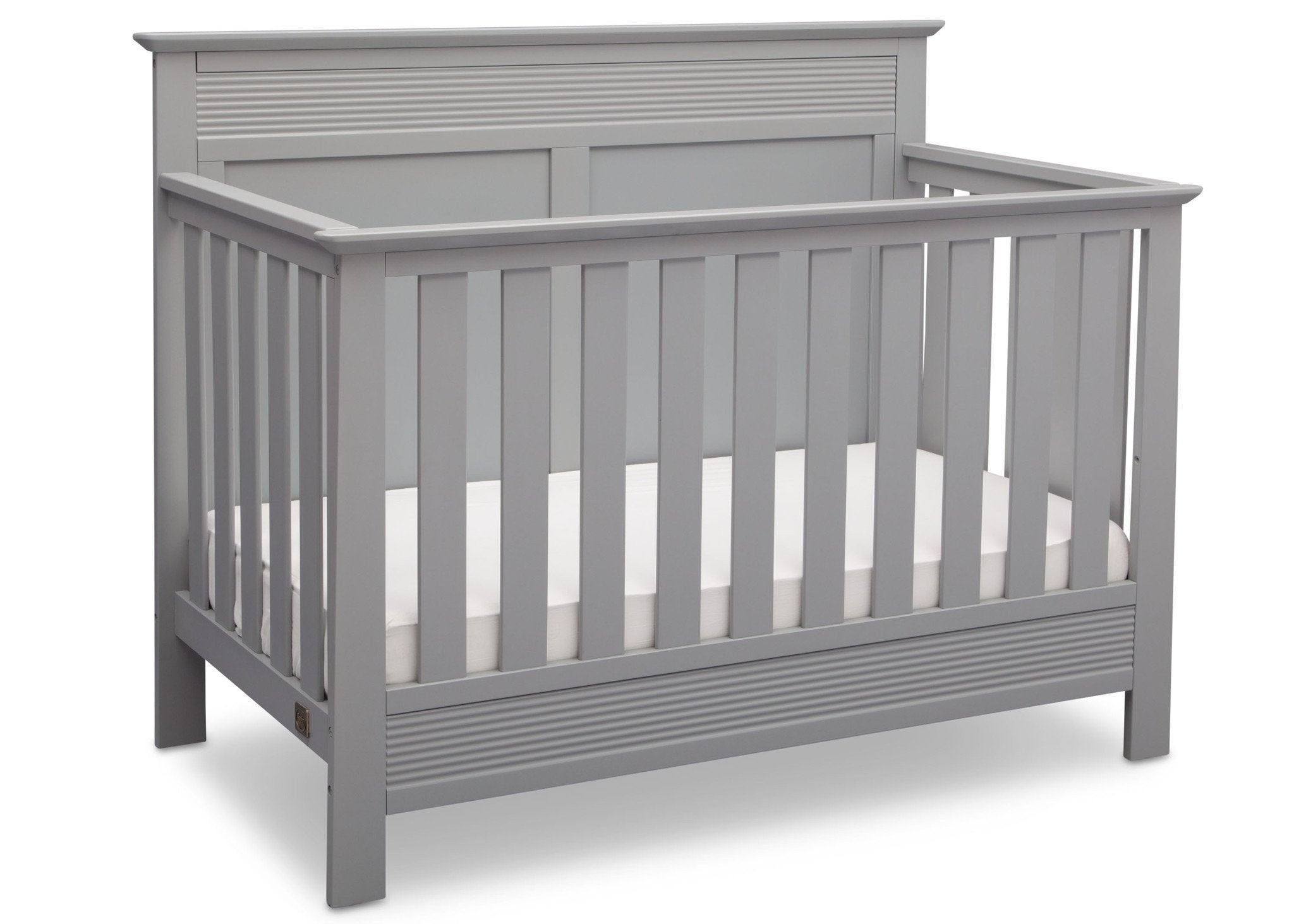 Serta Grey (026) Fall River 4-in-1 Convertible Crib, Right Crib View a2a