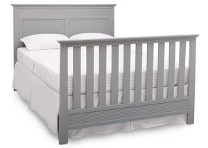 Serta Grey (026) Fall River 4-in-1 Convertible Crib, Right Bed View with Footboard a6a