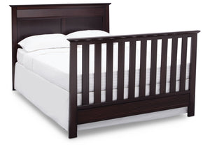 Serta Dark Chocolate (207) Fall River 4-in-1 Convertible Crib, Right Full Bed View c5c