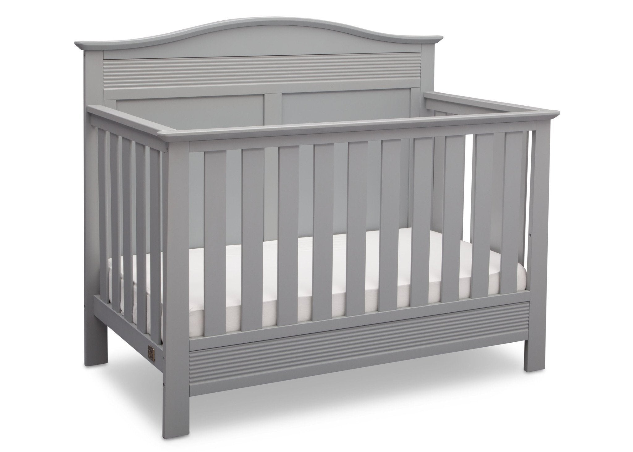 Serta Grey (026) Barrett 4-in-1 Convertible Crib, Right Crib View a2a