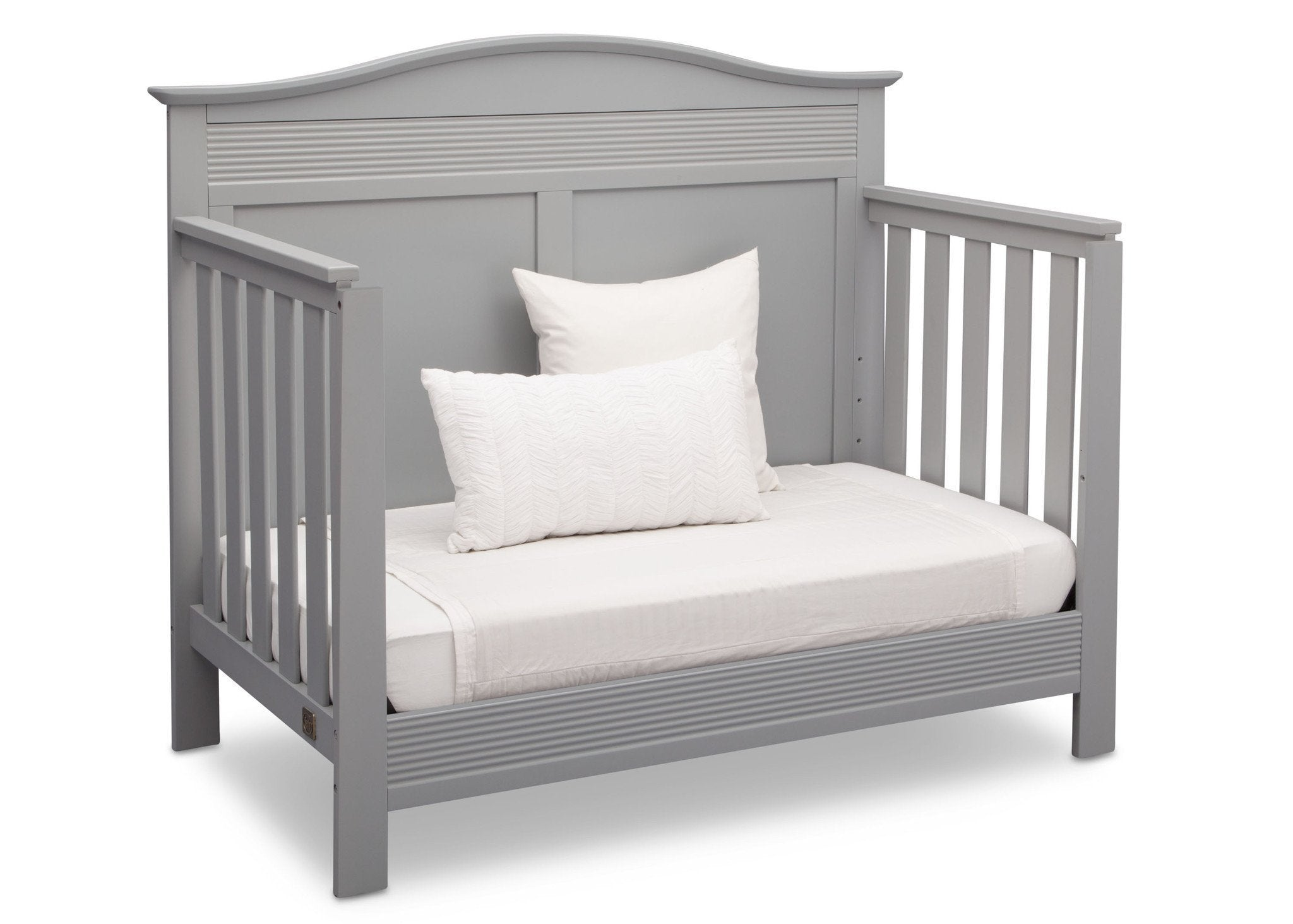 Serta Grey (026) Barrett 4-in-1 Convertible Crib, Right Daybed View a4a