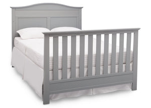 Serta Grey (026) Barrett 4-in-1 Convertible Crib, Right Full Bed View with Footboard a6a