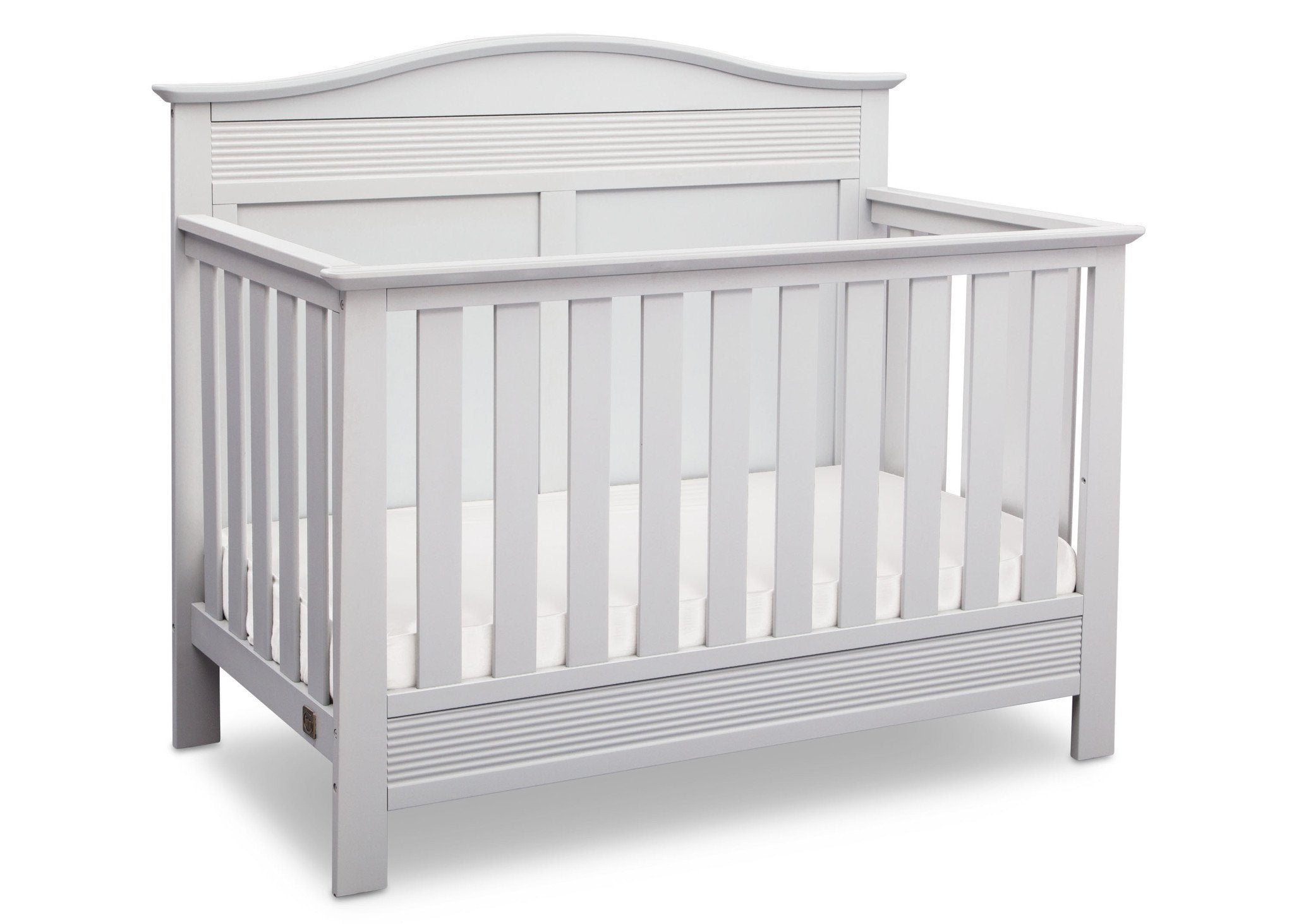 Serta Bianca White (130) Barrett 4-in-1 Convertible Crib, Right Crib View b2b