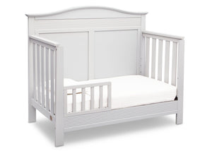 Serta Bianca White (130) Barrett 4-in-1 Convertible Crib, Right Toddler Bed View b3b