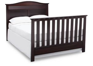 Serta Dark Chocolate (207) Barrett 4-in-1 Convertible Crib, Right Full Bed View c6c