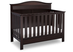 Serta Dark Chocolate (207) Barrett 4-in-1 Convertible Crib, Right Crib View c2c
