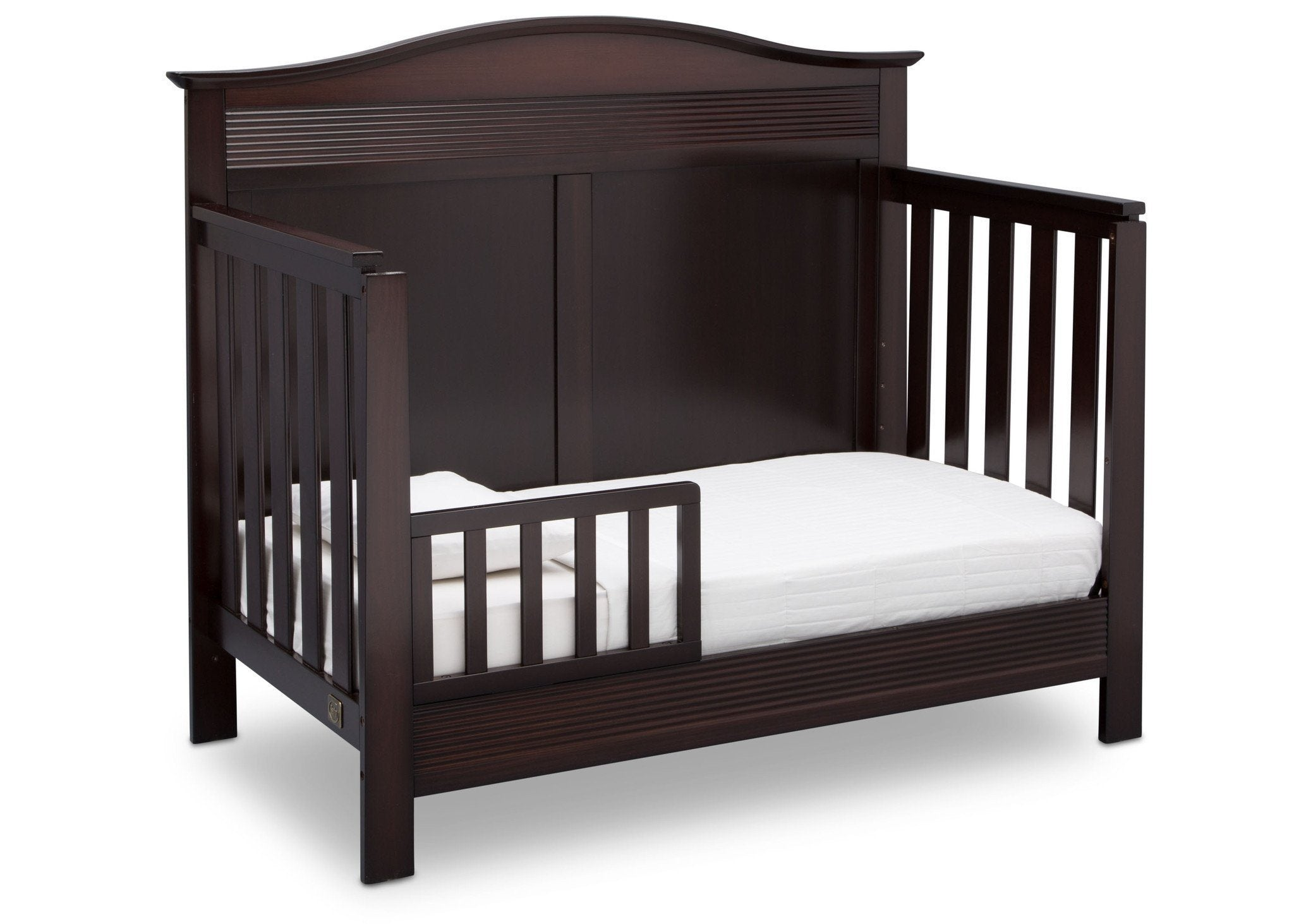 Serta Dark Chocolate (207) Barrett 4-in-1 Convertible Crib, Right Toddler Bed View c3c