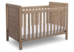 Delta Children Rustic Driftwood (112), Cali 4-in-1 Crib, angled view, b3b