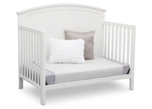 Delta Children White (100) Somerset 4-in-1 Crib Side View, Day Bed Conversion a5a