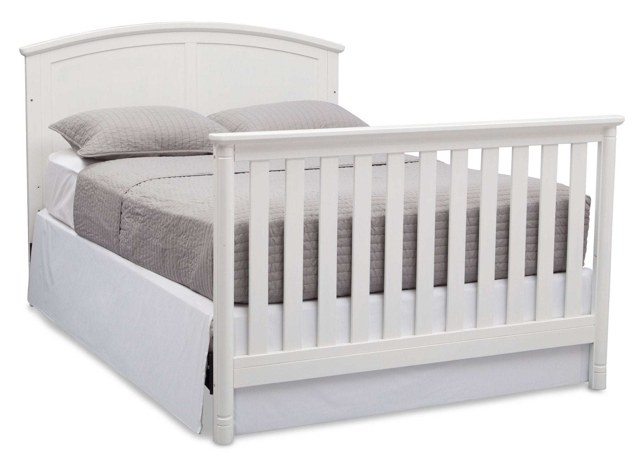 Delta Children White (100) Somerset 4-in-1 Crib, Full-Size Bed Conversion with Footboard a6a