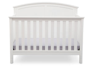 Delta Children White (100) Somerset 4-in-1 Crib Front View, Crib Conversion a2a