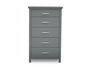 Delta Children Charcoal Grey (029) Avery 5 Drawer Chest (708050), Front View, a2a